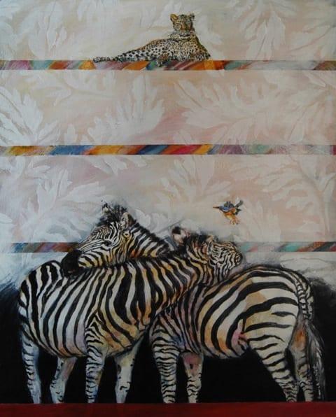 Besøg hos tekstilkunstneren og maleren Hanne Galschiøt